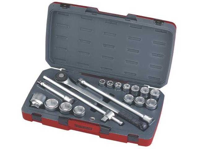 Køb Teng Tools Topnøglesæt 3/4″ T3418-6 med 18 dele