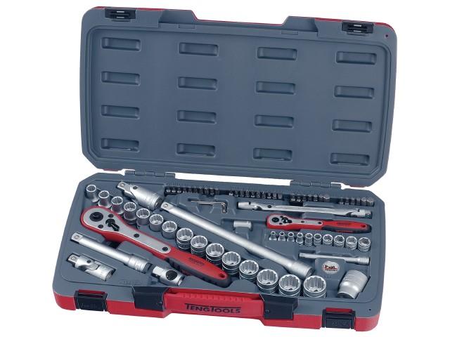 Køb Teng Tools Topnøglesæt 1/4″ og 1/2″ T1272 med 72 dele