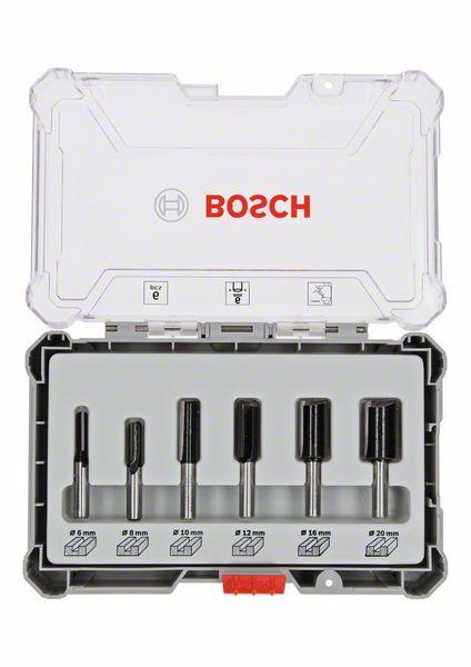 """Billede af Bosch Bitsæt til lige Fræsejern, 6 dele HM lige 1/4"""""""