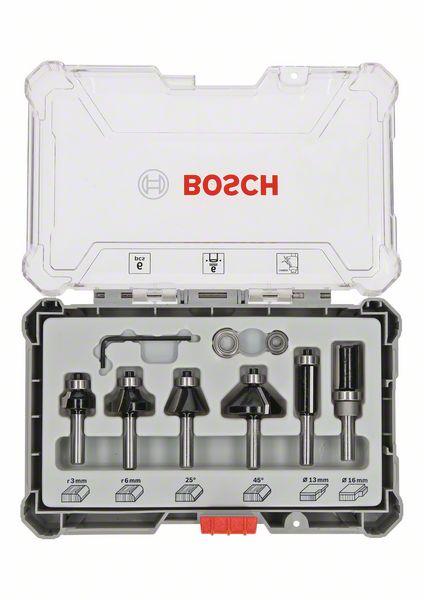 """Billede af Bosch Bitsæt til Trim and Edging-fræsejern, 6 dele 1/4"""""""