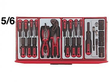 Teng Tools værktøjsvogn TCMM 715N med værktøj 715 dele 106240203