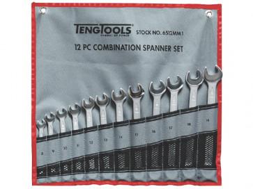 Teng Tools ringgaffelnøglesæt 6512MM med 12 dele 8-19mm 153150107