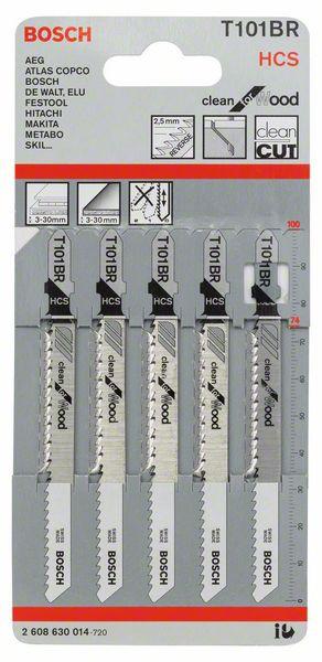 Bosch Stiksavklinger T 101 BR til træ pk. á 5 stk