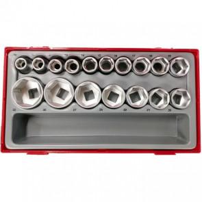 """Teng Tools topnøglesæt 1/2"""" TT1217-6 med 17 toppe 10-32mm 03570256"""