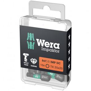 Wera Bits TX 20x25 á 10 stk. Impaktor - 05057624001