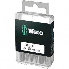 Wera Bits PH 1x25 á 10 stk. - 05072400001