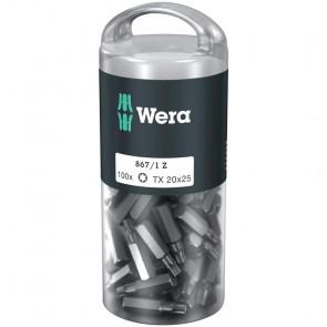 Wera Bits TX 20x25 á 100 stk. i rør - 05072448001