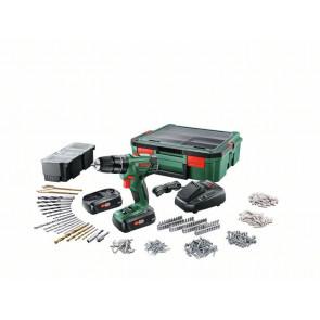 Bosch Akku-slagbore-/skruemaskine med to gear PSB 1800 + SystemBox - 06039A330K