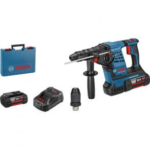 Bosch Akku-Borehammer GBH36V-LI Plus 2x6AH Case & SDS plus-vekselpatron - 061190700A