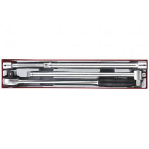 """Teng Tools forlængerstykker og skraldenøgle i sæt TTX3404 3/4"""" med 4 dele - 101530103"""