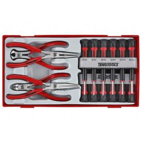 Teng Tools finmekaniker skruetrækkere & tænger i sæt TTMI16 med 16 dele - 104450101