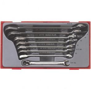 Teng Tools ringgaffelnøglesæt med skralde TT6508R med 8 dele 8-19mm - 109730101