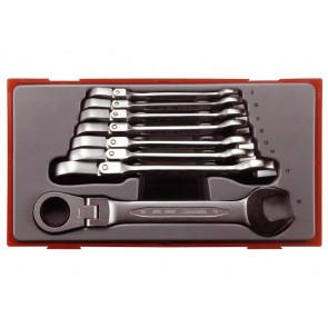 Teng Tools Ringgaffelnøglesæt med led og skralde TT6508RF 8-19mm - 131900102