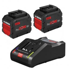 Bosch Start-Sæt: 2x Batteri 18V 12.0Ah og Lader GAL 18V-160 C