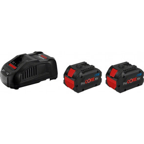 Bosch Start-Sæt: 2x Batteri ProCORE 18V 8.0Ah og Lader GAL 1880 CV - 1600A01C4K