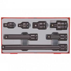"Teng Tools adaptersæt 1/2"" med 7 dele - 160680104"