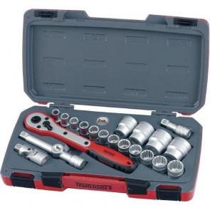 """Topnøglesæt Med 1/2"""" firkantfatning Teng Tools T1221 - 167240209"""