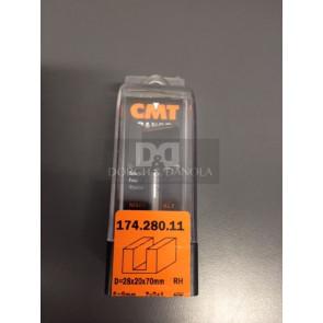 CMT Overfræsebor HM 28x20/70 K8 - 174.280.11