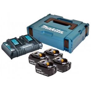 Makita akku batterisæt  4XBL1840B+DC18RD 18V 4,0Ah