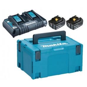 Makita Batteripakke LXT 2 x 6,0 Ah + lader - 198077-8