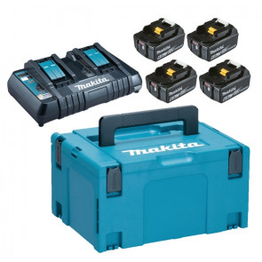 Makita Batteripakke LXT 4 x 18V - 6,0Ah + lader - 198091-4