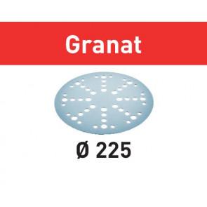 Festool sliberondeller velcro 225mm 48 hul P60 - 25 stk. - Granat - 205654