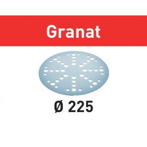 Festool sliberondeller velcro 225mm 48 hul P180 - 5 stk. - Granat - 205667