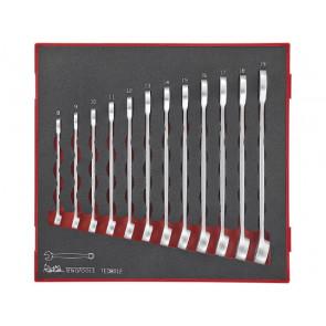 Teng Tools ringgaffelnøglesæt TED8012 med 12 dele 8-19mm - 238500102