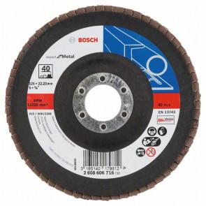 Bosch Lamelslibeskive K40 skrå X551 Expert for Metal 125x22mm