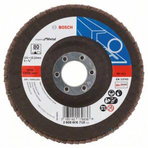 Bosch Lamelslibeskive skrå K80 X551 Expert for Metal 125x22mm - 2608606718