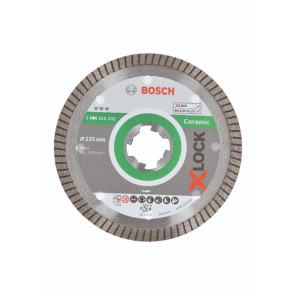 Bosch X-LOCK Best for Ceramic Extra Clean Turbo-diamantskæreskive, 125x22,23x1,4x7 - 2608615132
