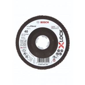 Bosch X-LOCK X571 Best for Metal-lamelslibeskive skrå BFM 115mm K40 - 2608619197