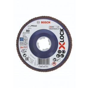 Bosch X-LOCK X571 Best for Metal-lamelslibeskive flad 125mm K80 - 2608619211