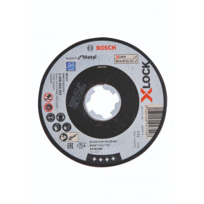Bosch X-LOCK Expert for Metal-skæreskive 115 x 22,2 x 1,6mm - 2608619252