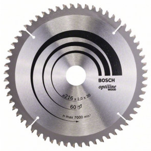 Bosch rundsavklinge Ø216 x 30mm 60T -5gr træ - 2608640433