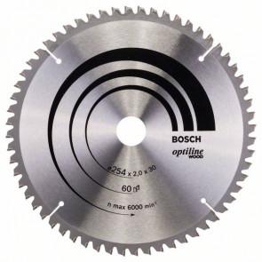 Bosch rundsavklinge 254x30mm 60T -5gr træ - 2608640436