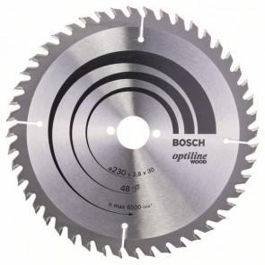 Bosch rundsavklinge Optiline 230 x 2,8 x 30mm 48T - 2608640629