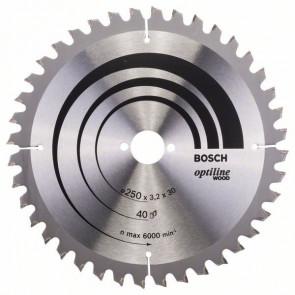 Bosch kap & gerringsavklinge 250 x 3,2 x 30mm 40T - 2608640643