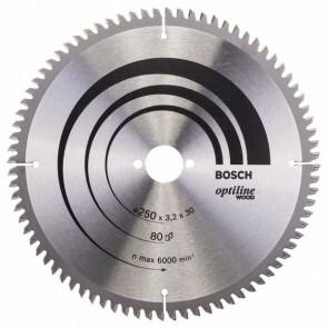 Bosch kap & gerringsavklinge 250 x 3,2 x 30mm 80T - 2608640645