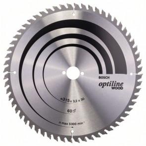 Bosch rundsavklinge Stat GW 315 x 3,2 x 30mm 60T - 2608640651