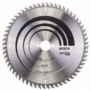 Bosch rundsavklinge Stat KW 250 x 3,2 x 30mm 60T - 2608640665