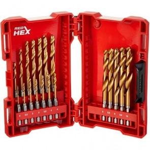 Milwaukee Shockwave Red Hex™ Titanium sæt med 19 bor - 48894760