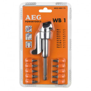 AEG Vinkelskrueforsats WB1 11 dele - 4932430173