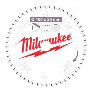 Milwaukee Rundsavklinge W160x20x2,2x52 - 4932471292