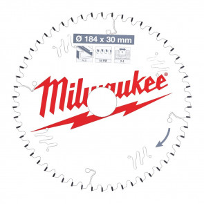 Milwaukee Rundsavklinge Alu184x30x2,4x54 - 4932471299