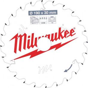 Milwaukee Rundsavklinge W190x30x1,6x24 - 4932471300