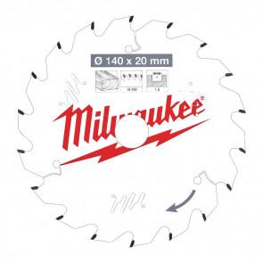 Milwaukee Rundsavklinge W140x20x1,6x18 - 4932471310