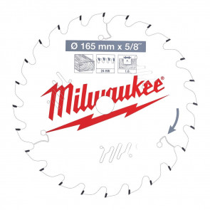 Milwaukee Rundsavklinge W165x15.87x1.6x24 - 4932471311