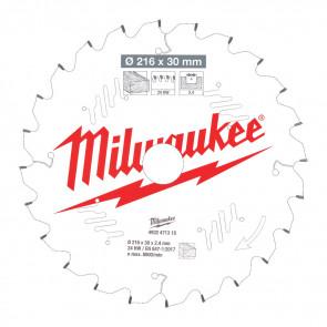 Milwaukee Rundsavklinge MS W216x30x2,4x24 - 4932471315