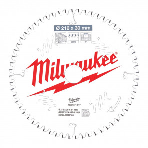 Milwaukee Rundsavklinge MS W216x30x2,4x60 - 4932471317